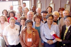 Dr. Radd with colleagues, Dr. Scott Harrington and Dr.Doris Coy, Past President of ACA, at the annual convention of the American Couseling Association in Kansas City, Missouri, where she presented Meeting Multicultural Challenges - Bridging the Gap Between School and Community in April 2004.