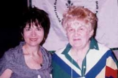 1999 American School Counseling Conference, Phoenix, Arizona. At exhibit with Sophia Radd and G. G. Raddbearie puppet.