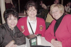 Dr. Tommie Radd, Cheryl, and Jan Olsen following A Beginning Teacher Mentor Program That Works presentation by Tommie and Jan at 2002 Annual Convention & Career Expo of the Association for Career and Technical Education (ACTE), December 2002.