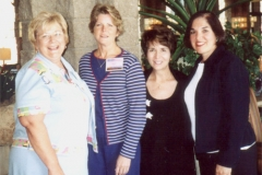 Arizona Career & Technical Educations 2003 Conference where Dr. Radd & Jan Olson presented A Beginning Teacher Mentor Program That Works on July 22, 2003. Pictured are Jan Olson, Mary Urich, Tommie Radd, JoAnne Hagmann.