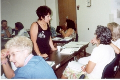 Brainstorming ideas! Ector County Independent School District training workshop, Developing a Comprehensive Guidance and Counseling Program for All Students, in Odessa, Texas, July 30 to August 1, 2002.