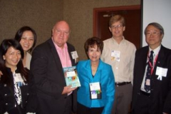 With colleagues at Dr, Radd's presentation, Academic Achievement: The Essential Role of Comprehensive Developmental Guidance Skill Building at the 2010 IAIE World Conference in Columbus, Ohio.