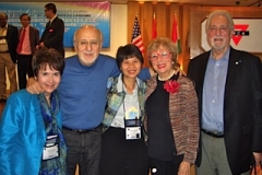 Peter Yarrow, Dr. Nui and Drs, Siegel in Hong Kong at the IAIE Conference.