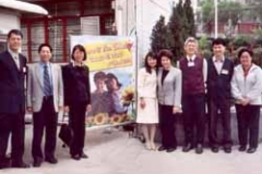 Dr. Radd being welcomed by students of a school in Hong Kong where she traveled as a part of the International Alliance for Invitational Education program in March 2004.