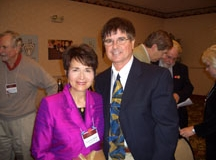 Dr. Radd with Dr. Ray Fulton, chairperson of the William Stafford Leadership Award Committee