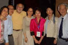 Dr. Radd and a group from the IAIE Conference with a featured guest, Peter Yarrow, in Hong Kong. September 2005.