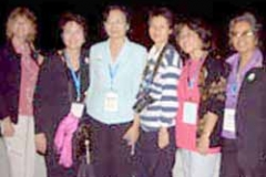 Dr. Radd with Thai colleagues at the IAIE Conference in Hong Kong. September 2005.