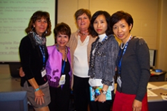 Dr. Radd with colleagues at one of her presentations. (IAIE World Conference, 2011)