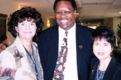 Dr. Radd with Dr. Kate Asbill, workshop presenter, and Dr. Thomas Moore, keynote speaker.