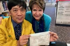 A special birthday drawing for Dr. Radd - Beauty created on a Napkin!!!