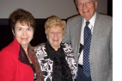 Dr. Radd with Dr. Pat Schwallie-Giddis, President of NCDA, and Dr. Norm Gysbers during conference activities in San Francisco, California, summer 2010.