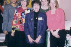 Dr. Radd with middle school counselors at Texas Education Agency's Spring Professional Growth Conferences for Texas School Counselors in Austin, Texas, April 2003. Her presentation was A Comprehensive, Developmental Systems Approach for Anger Management.