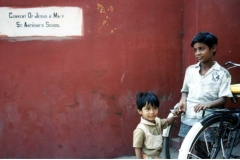 Outside the St. Anthony's School in Agra, India.