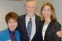 Dr. Radd with Dr. William Purkey and his daughter at University of Nebraska Omaha. May 2003. Dr. Purkey met with school counseling students and discussed invitational education.