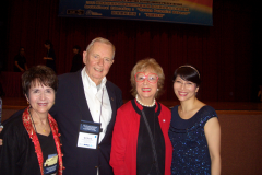 Dr. Radd with Dr. William Purkey, Dr. Betty Siegel (founders of the IAIE) and Clio Chan (IAIE board of trustees member).